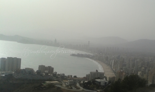 cloudy day in benidorm