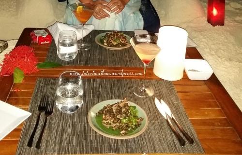 dinner on send in maldives velassaru