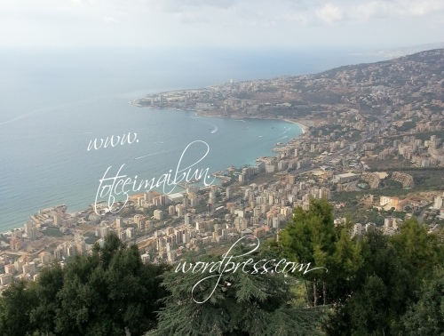 jounieh seen from up lebanon