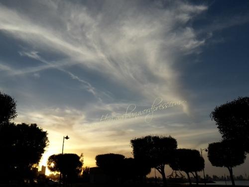 sunset in kuwait